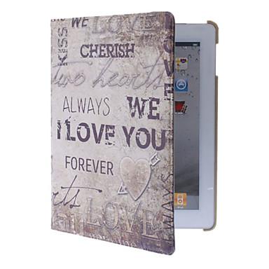 360 astetta kääntyvä Minä rakastan sinua Pattern Full Body Case jalusta iPad 2/3/4
