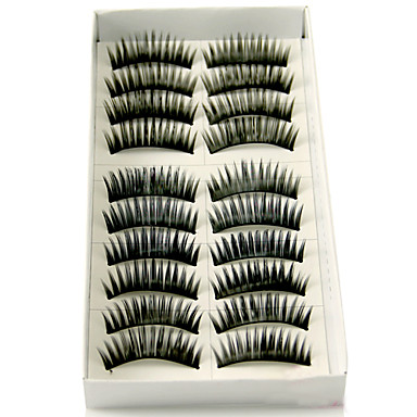 Eyelash Extensions False Eyelashes 20 pcs Volumized Natural Curly Fiber Daily Thick Natural Long Lengthens the End of the Eye - Makeup Daily Makeup Cosmetic Grooming Supplies