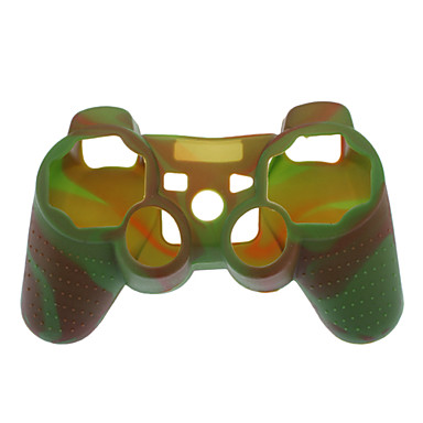 Protective Dual-Color Style Silicone Case for PS3 Controller (Army Green and Red)