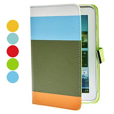 Multicolor Caja de cuero de la PU con el soporte y la ranura para tarjeta para la galaxia de Samsung 7.0 P3100 Tab2 (colores surtidos)