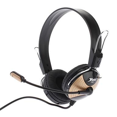 Ergonomi Design Støyreduserende Hi-fi Speaker Omnidirectional Stereo Headset for spill og film (Black & Gold)