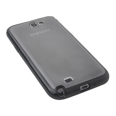 Musta muovi Body Case for Samsung Galaxy Note2 N7100