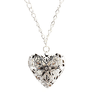 Pendant Necklaces Heart Sterling Silver Silver Plated Love Heart Jewelry For Thank You Daily Valentine