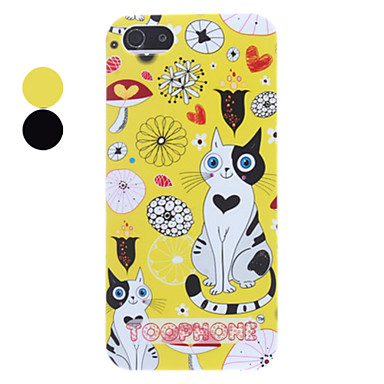 Adorable Cats in Puzzling World Pattern Hard Case for iPhone 5/5S
