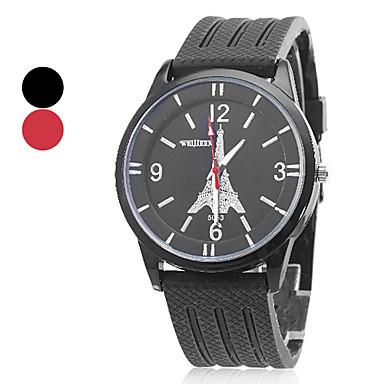Bracelet unisexe de silicone de modèle analogique Quartz Casual (couleurs assorties)