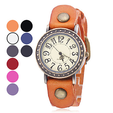 Women's Leather Analog Quartz Wrist Watch (Assorted Colors) Cool Watch Unique Watch