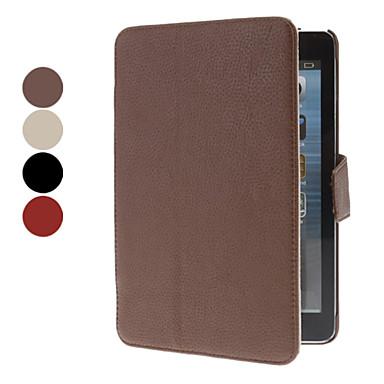 Litchi mönster PU läder hela kroppen fallet för ipad mini 3, iPad Mini 2, iPad Mini (blandade färger)