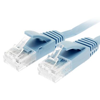 billige Kabler og adaptere-Cat 6 Mand til Mand Network Cable Flat Type Blå (1M)