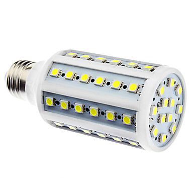 E26/E27 LED Mısır Işıklar 60 led SMD 5050 Doğal Beyaz 900lm 6500K AC 110-130 AC 220-240V