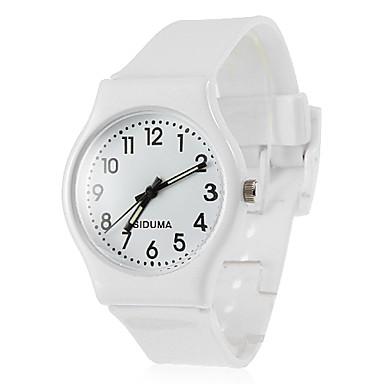 Mujer Cuarzo Reloj de Pulsera Gran venta Silicona Banda Encanto Casual Reloj de Vestir Moda Negro Blanco Rojo Verde