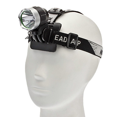 Headlamps Headlight LED 1000 lm 3 Mode Cree XM-L T6 with Batteries and Charger Camping/Hiking/Caving Everyday Use Cycling/Bike Hunting