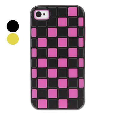 Mixed Colors kaksikerroksinen Söpö Mesh Silica Gel Case for iPhone 4/4S (eri värejä)