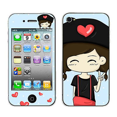 Naughty Girl Pattern Body Sticker for iPhone 4/4S
