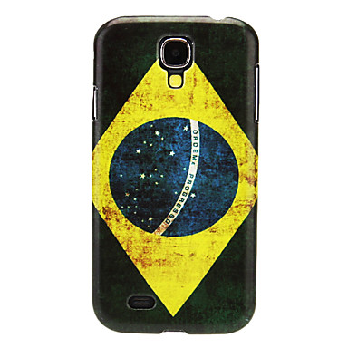 Brezilya Desen Samsung Galaxy S4 I9500 için Hard Case IMD