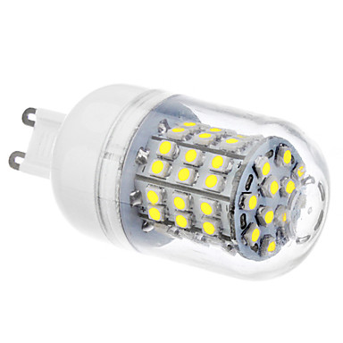g9 led mısır ışıkları 60 smd 3528 320lm doğal beyaz 6500k ac 110-130 ac 220-240v