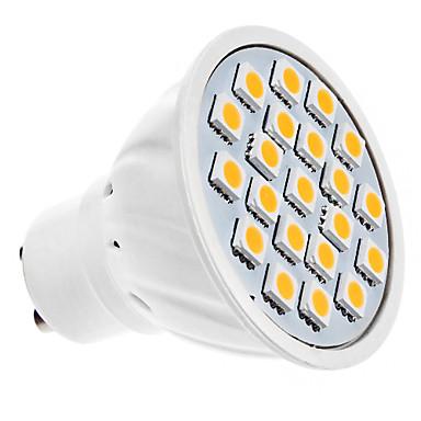 1.5W GU10 Focos LED MR16 20 LED SMD 5050 Blanco Cálido 3000lm 3000KK AC 100-240V