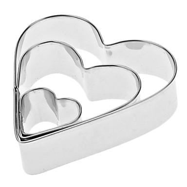 Bakeware araçları Paslanmaz Çelik Çevre-dostu / Sevgililer Günü Kek / Kurabiye / Tart Pişirme ve Pastacılık Spatula 3adet