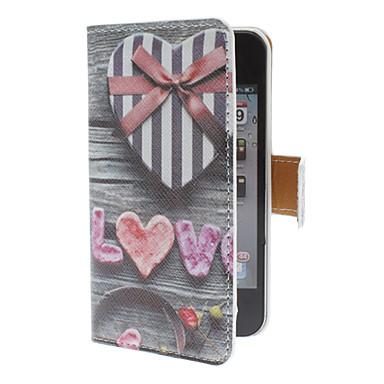 Etui pour iPhone 4/4S avec Port Carte SD, Motif Coeurs