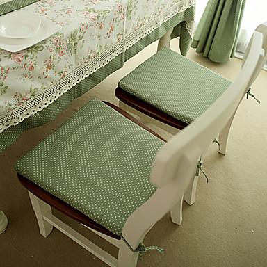 Çağdaş Poli / Pamuk Karışımı Dikdörtgen Sandalye Minderi Yuvarlak Noktalı Masa Süslemeleri 1 pcs