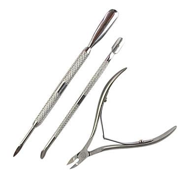 3adet Makaslar Nasır Temizleyici tırnak sanatı Manikür pedikür Paslanmaz Çelik Klasik Günlük / Makaslar ve Tırnak Makasları