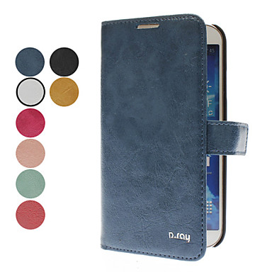 For Samsung Galaxy Case Flip Case Full Body Case Solid Color PU Leather Samsung S4