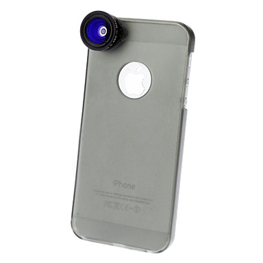 Aluminum Fish-Eye Lens Wide-Angle Lens Other 4X Lens with Case iPhone 5