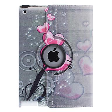 케이스 제품 아이 패드 4/3/2 스탠드 360°회전 전체 바디 케이스 심장 PU 가죽 용 iPad 4/3/2