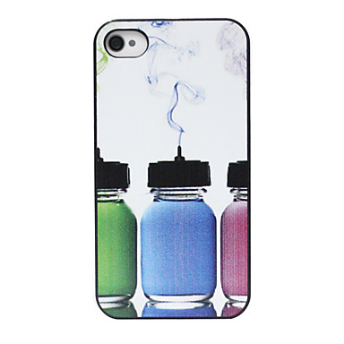 Colored Bottle Pattern Back Case for iPhone 4/4S