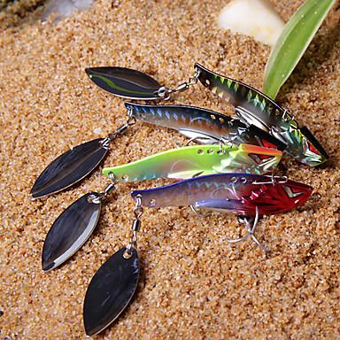 Yeni Metal Lure (10g, 15g, Renk ramdon) Shining Balık Şekilli İplik ile tasarlanan Renkli Balık 3-Kancalar