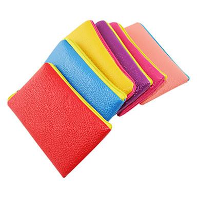 Litchi grano Candy colori Portamonete cellulare Bag (colore casuale)