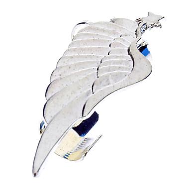 Punk Style Wings Pentagram Golden Ear Bones Clip Earring