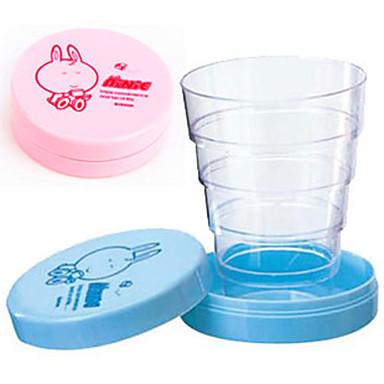 sevimli çizgi film taşınabilir katlanabilir teleskopik kap katlanır seyahat bebek içki kupası doğum günü hediyesi