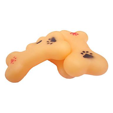 Paws Pattern osso em forma de borracha Toy Squeaking para Animais de estimação Cães
