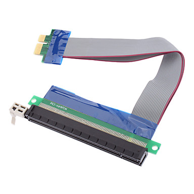 yüksek kaliteli pci-e 1x ila 16x yükseltici kart uzatma kablosu (0.15m)