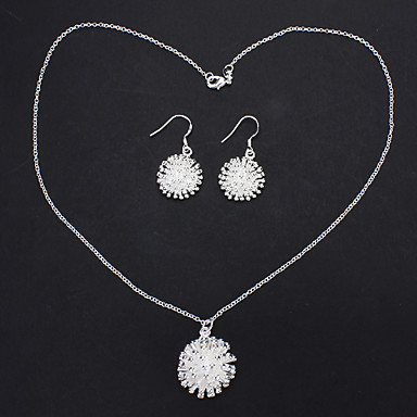 Fireworks Style Pendant Necklaces Jewelry + Earrings for Femalea