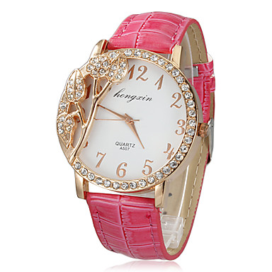 Women's Watch Fashion 3D Flower Pattern Dial Cool Watches Unique Watches