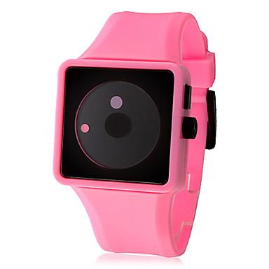 Women's Creative Two-Dot Dial Silicone Band Quartz Analog Wrist Watch (Pink)