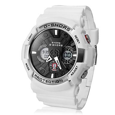Multi-Function LCD numérique Dial Rubber Band Sport Montre-bracelet de style pour hommes (couleurs assorties)
