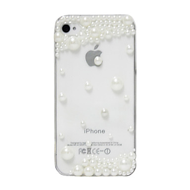 For iPhone 5 Case Case Cover Rhinestone Transparent Back Cover Case Solid Color Hard PC for iPhone SE/5s iPhone 5