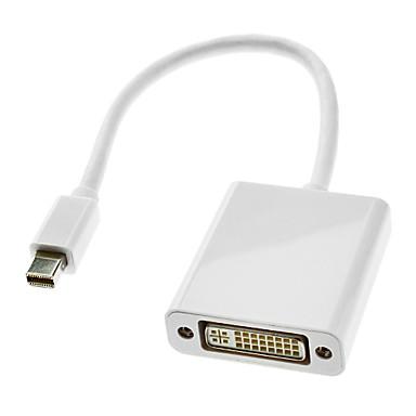 Macbook air / macbook pro / imac / mac mini için 24 +5 dişi kablo Beyaz DVI 0.3m 1ft şimşek erkek