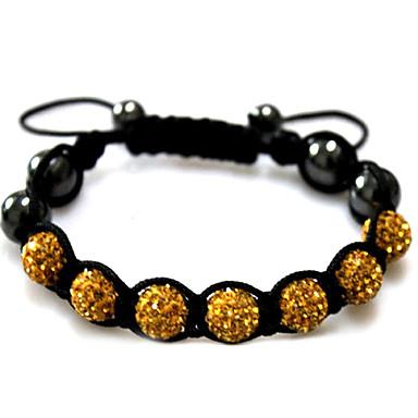 여성용 물가 팔찌 Silver Bracelets - 라인석 팔찌 블랙 / 레드 / 그린 제품 캐쥬얼