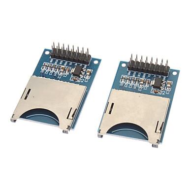 Mavi + Gümüş (2 ADET) - Yazma Modüller Okuma Micro SD / TF Kart Yuvası