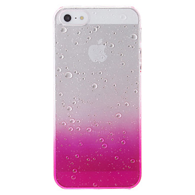 Custodia Per iPhone 5 Apple Custodia iPhone 5 Transparente Fantasia / disegno Per retro Colore graduale e sfumato Resistente PC per