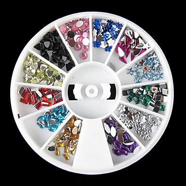 1 Nail Jewelry Glitter & Poudre Diğer Süslemeler Dekorasyon Setleri Soyut Karikatür Moda Sevimli Düğün Yüksek kalite Günlük