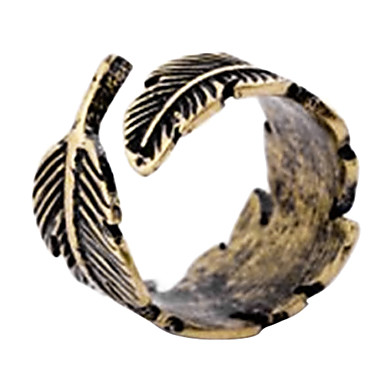 Women's Statement Ring Bronze Copper Alloy Bullet Feather Fashion Wedding Party Daily Casual Sports Costume Jewelry