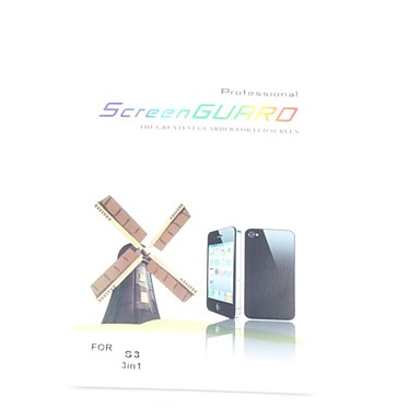 3X Clear Front Screen Protector for Samsung Galaxy S3 I9300 Screen Protectors for Samsung