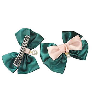 (1 Pc) Çocuk (Yeşil) İÇİN Sweet Green Pearl Saç Kravatlar