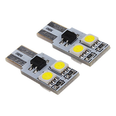 T10 1W 4x5050SMD 70-90LM 6000-6500K Cool White Light LED Bulb for Car (12V)