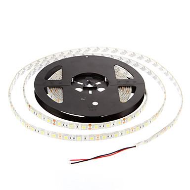 ZDM® 5m Esnek LED Şerit Işıklar 60 LED'ler 5050 SMD Sıcak Beyaz / Serin Beyaz Su Geçirmez 12 V 1pc / IP65