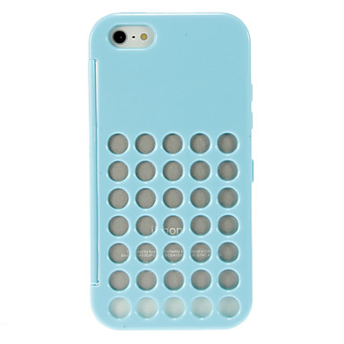 Special Design Round Net Pattern Hard Full Body Case with Transparent Front Cover iPhone 5/5S (Assorted Colors)